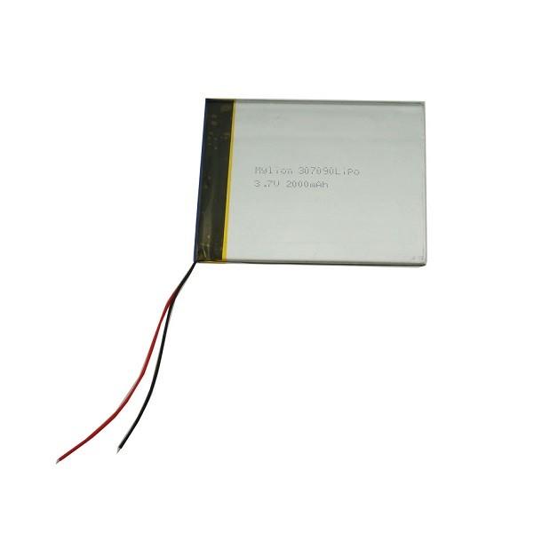中國電池供應商 BZ 307090 3.7V 2000mah 充電鋰離子聚合物電池