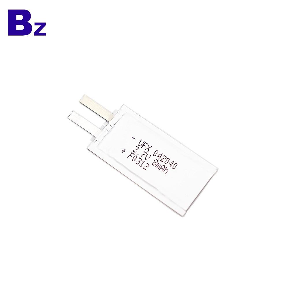 8mAh 3.7V電子名片超薄電池