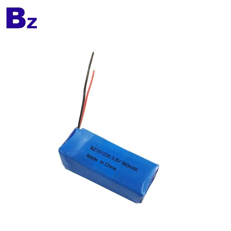 3.7V 560mAh 可充電鋰電池