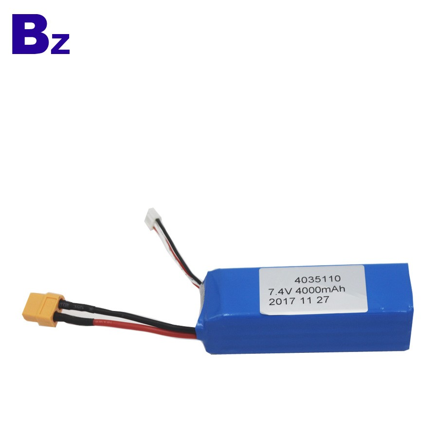 4035110-2S2P 4000mah 7.4V 5C 可充電LiPo電池組