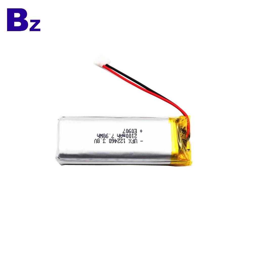 2100mAh手電鋰聚合物電池