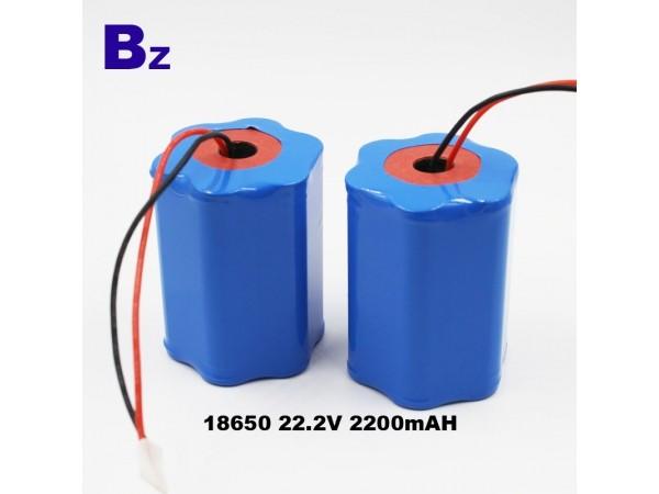 特殊電池 - 18650 - 6S - 2200mAh - 22.2V - 鋰離子電池 - 可充電電池