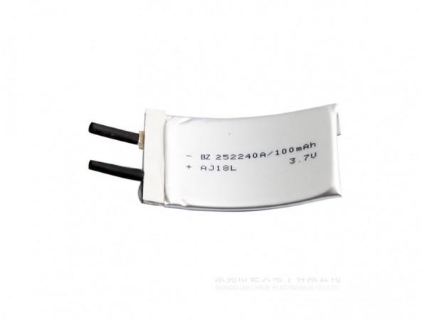 可充電鋰離子電池 252240 - 100mAh - 3.7V