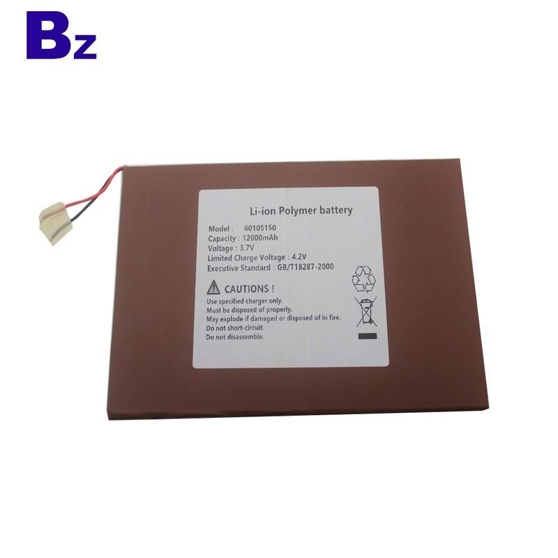 60105150 12000mah 3.7V 適用於消費電子產品Lipo電池