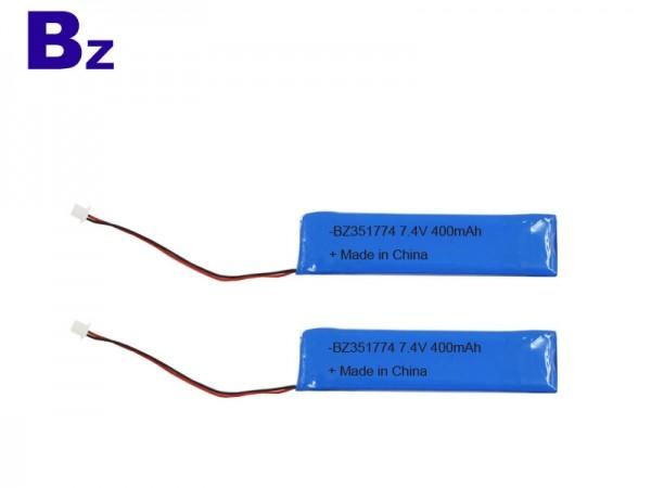 醫療電池 - BZ 351772 - 7.4V - 400mAh - 鋰聚合物電池 - 可充電電池