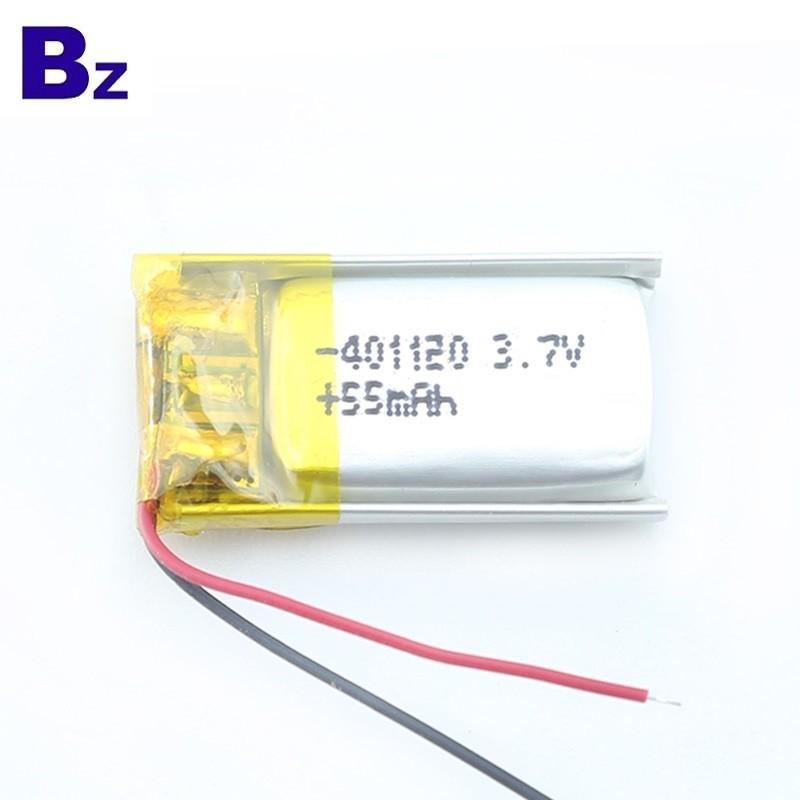 用於藍牙智能手環的55mAh鋰聚合物電池