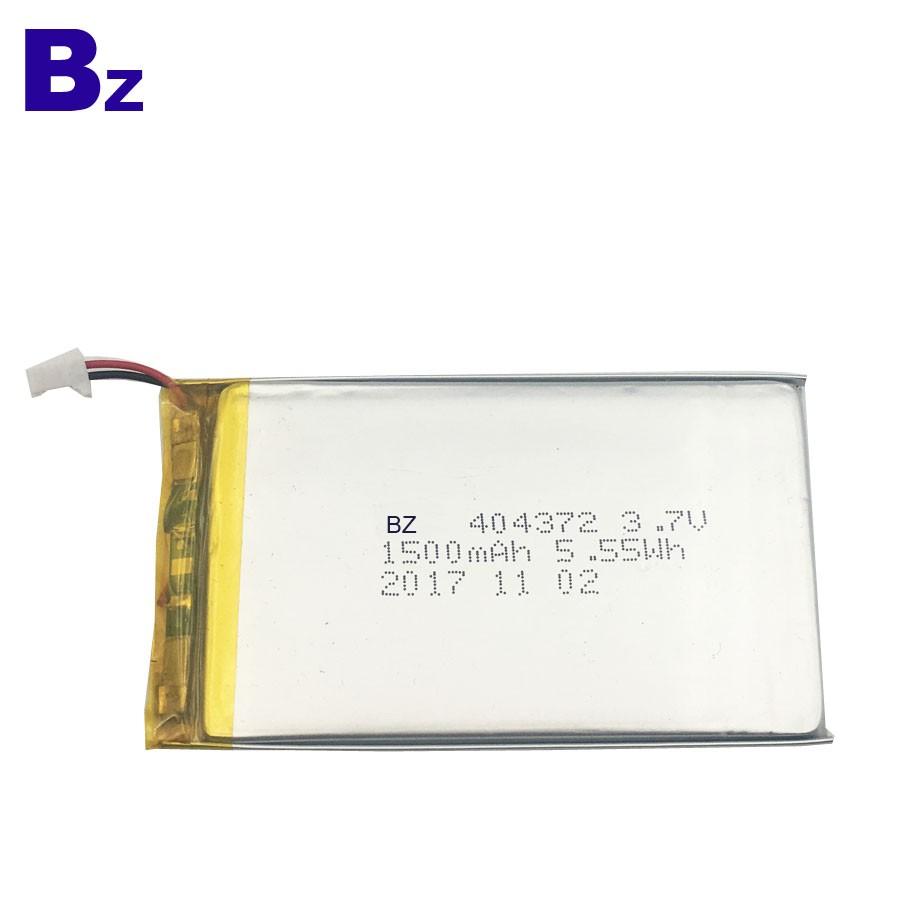 404372 1500mAh 3.7V 可充電鋰聚合物電池