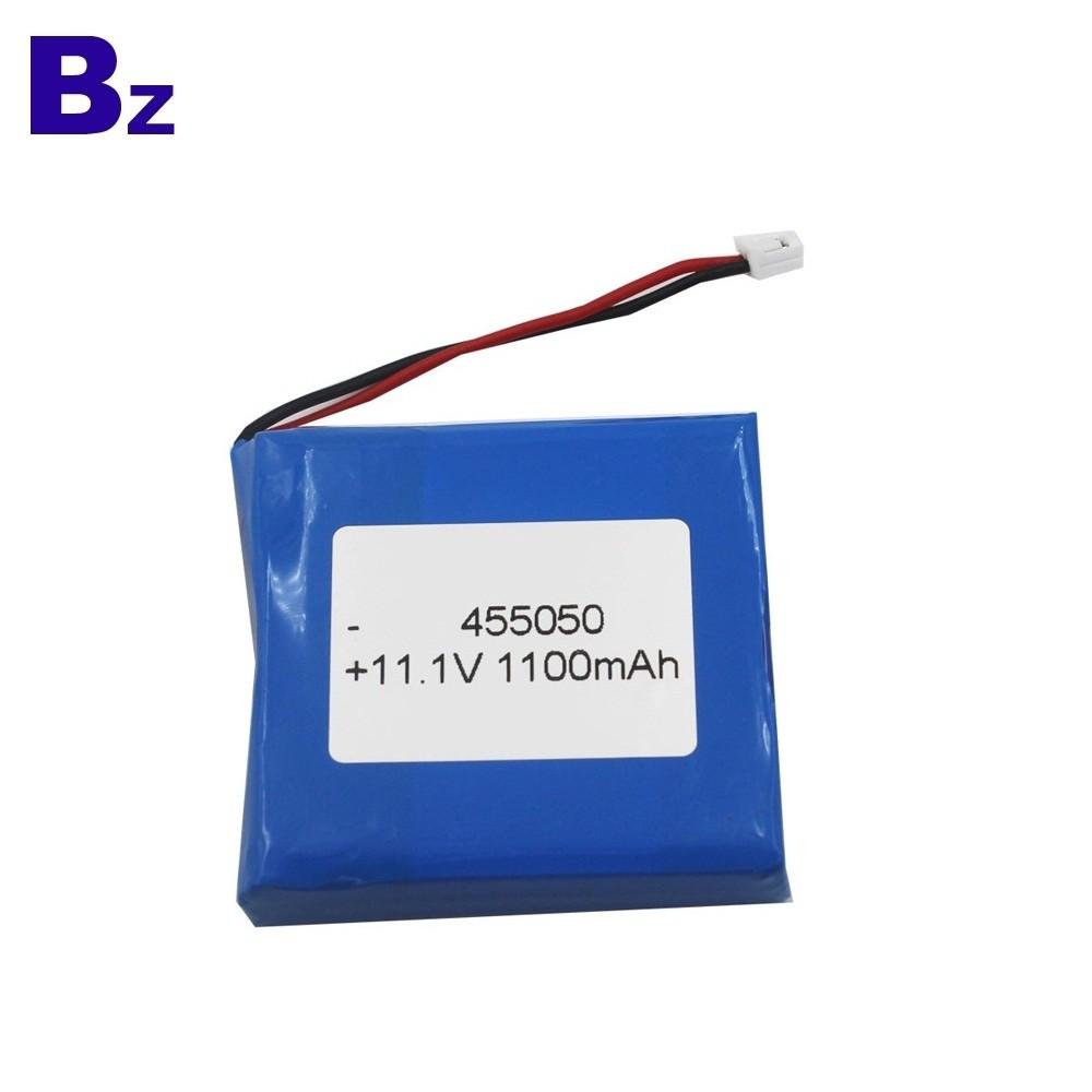 定制可充電鋰離子電池 BZ 455050 3S 11.1V 1100mAh 聚合物鋰離子電池