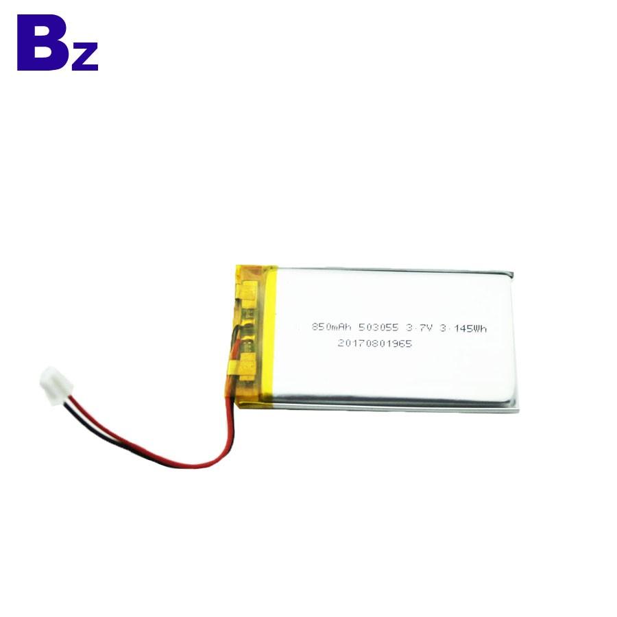 850mah 3.7V 可充電鋰電池適用於醫療產品