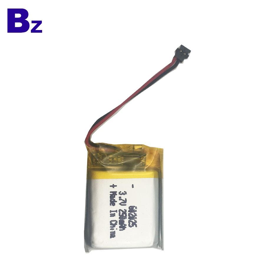 602025 250mAh 3.7V 可充電鋰聚合物電池