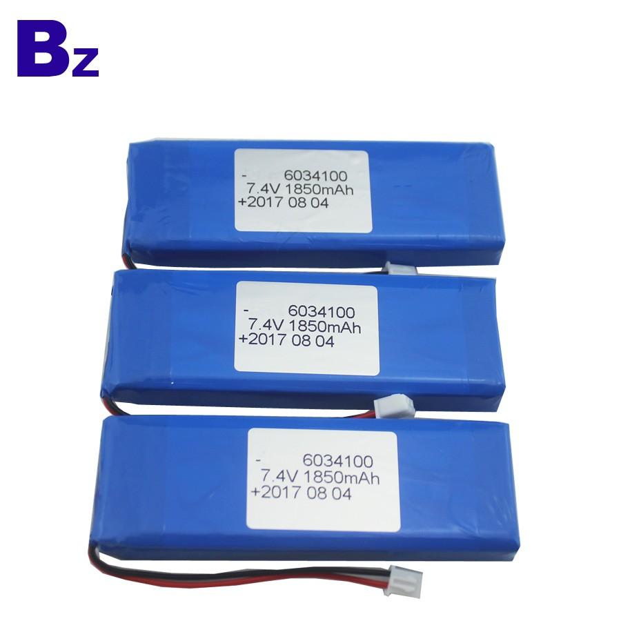 6034100 2S 1850mAh 7.4V 可充電LiPo電池組