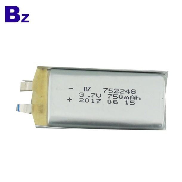 OEM用于醫療產品的鋰電池 BZ 752248 750mAh 3.7V 鋰聚合物電池