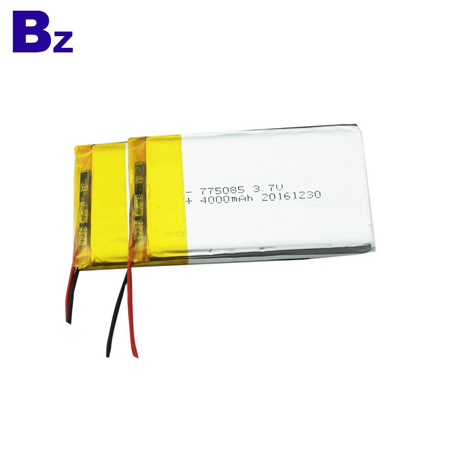 775080 4000mAh 3.7V 可充電聚合物鋰離子電池