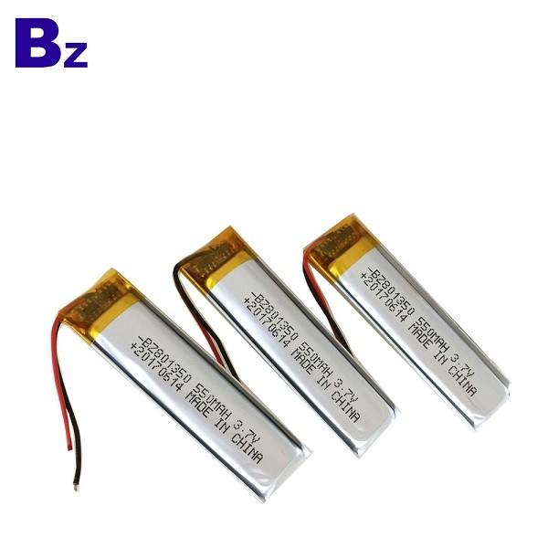 550mah 3.7V可充電鋰聚合物電池組