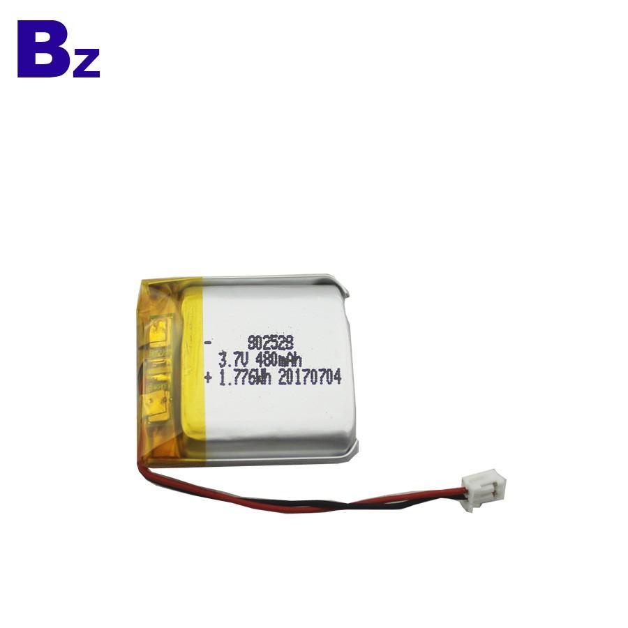 802528 480mAh 3.7V 用於數碼產品的鋰電池