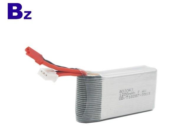 BZ 803063 1200mah 15c 7.4v 高倍率聚合物電池 可用於RC航模模型