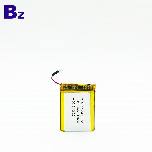 573647 1100mAh 3.7V鋰離子電池
