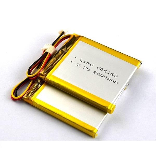 606168 3.7V 2500mAh可充電鋰電池