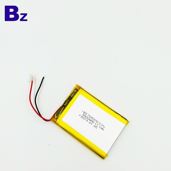 705070 3000mah 3.7V可充電電池