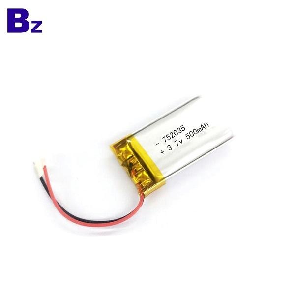 752035 500mAh 3.7V LiPo電池