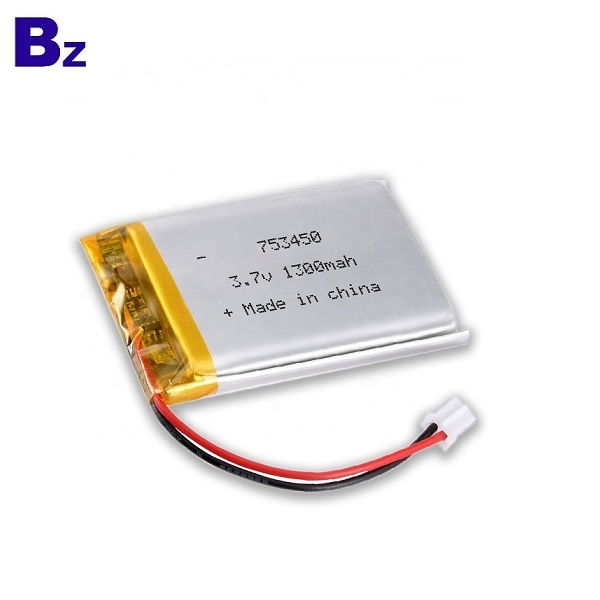 753450 1300mAh 3.7V LiPo電池