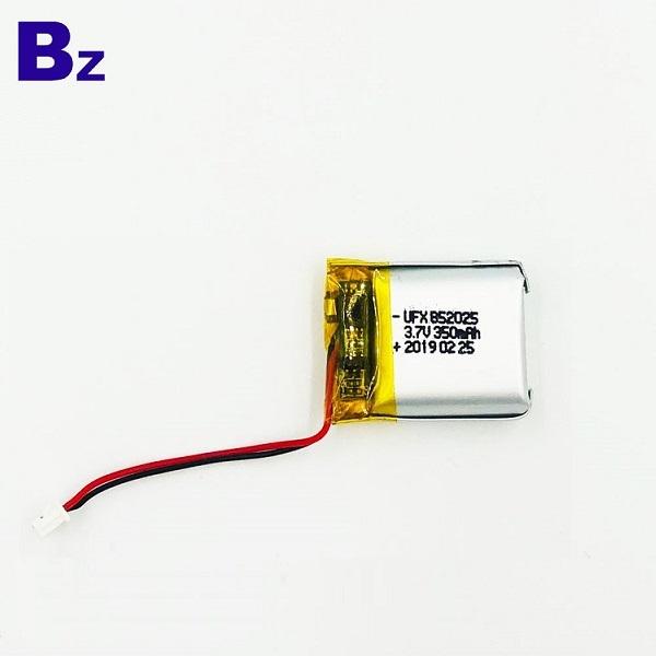 852025 350mAh 3.7v鋰離子電池