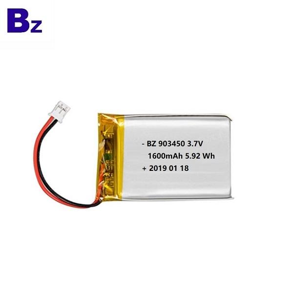 903450 1600mAh 3.7V鋰電池