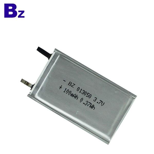 100mah 3.7V超薄聚合物鋰離子電池