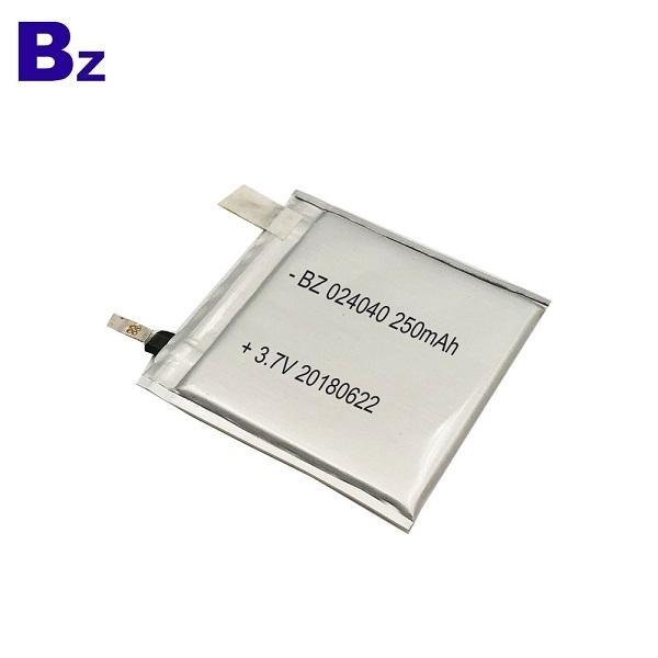024040 250mAh 3.7V 鋰電池