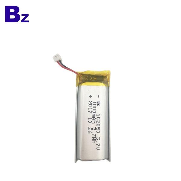 102050 1000mAh 3.7V 可充電鋰聚合物電池