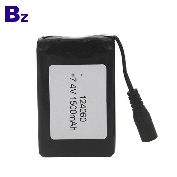 定制可充電鋰離子電池 BZ 124060 2S 7.4V 1500mAh 聚合物鋰離子電池