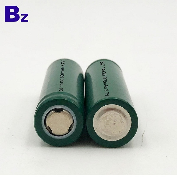 14430 600mAh 3.7V 鋰離子電池