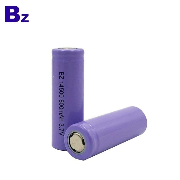 定制熱銷圓柱電池 BZ 14500 800mAh 3.7V 可充電鋰離子電池