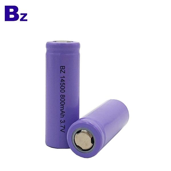 14500 800mAh 3.7V 可充電鋰離子電池