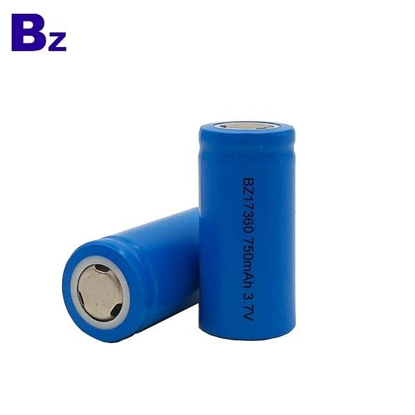 17360 750mAh 3.7V 可充電鋰離子電池