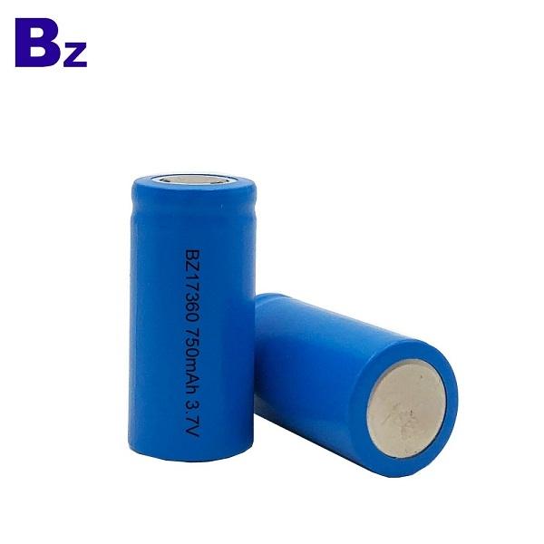 圓柱電池 BZ 17360 750mAh 3.7V 可充電鋰離子電池