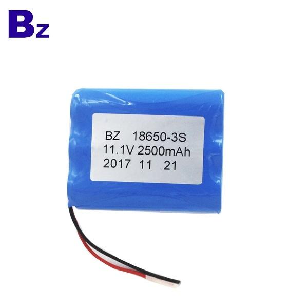 定制圓柱電池 BZ 18650 3S 2500mAh 11.1V 鋰離子充電電池