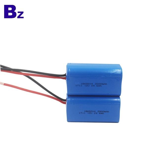 圓柱形電池 BZ 18650 4S 2000mAh 14.8V 可充電鋰離子電池