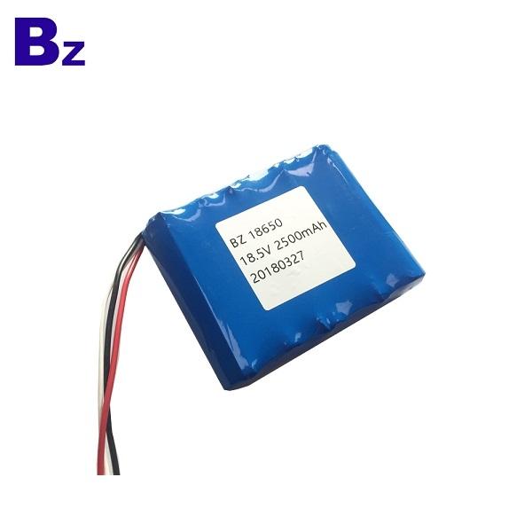 18650-5S 2500mAh 18.5V 5C 帶線鋰離子電池
