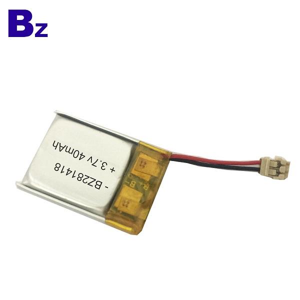 281418 40mAh 3.7V 可充電LiPo電池