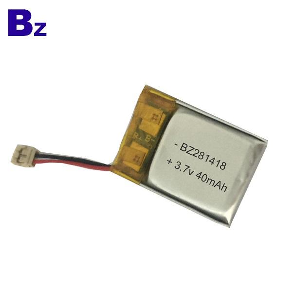 40mAh 3.7V 可充電LiPo電池