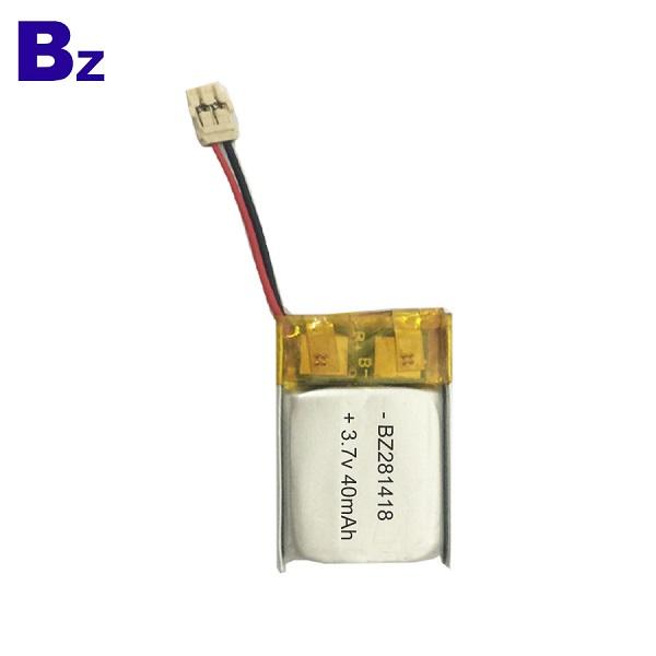 40mAh 可充電LiPo電池