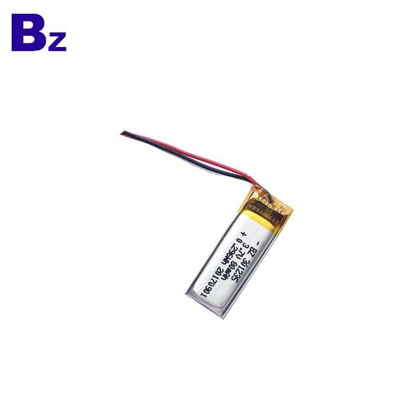 3.7V 80mAh可充電LiPo電池