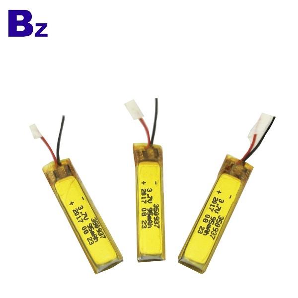 350937 95mAh 3.7V可充電鋰聚合物電池