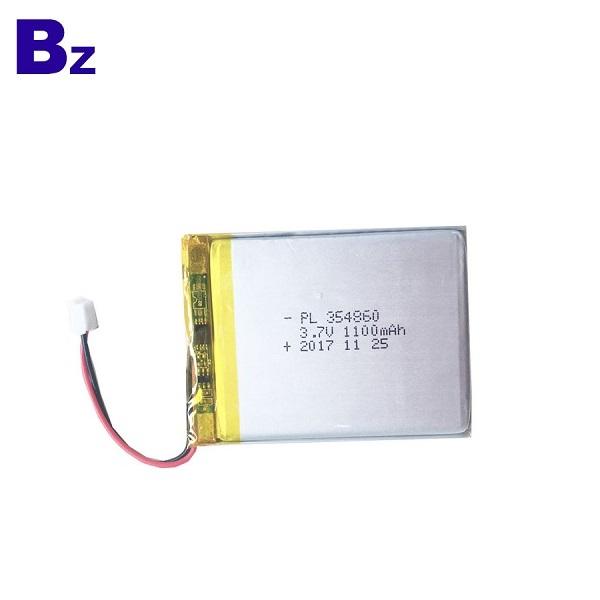 354860 1100mAh 3.7V 可充電LiPo電池