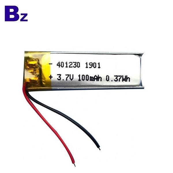 401230 100mah 3.7V中國鋰電池