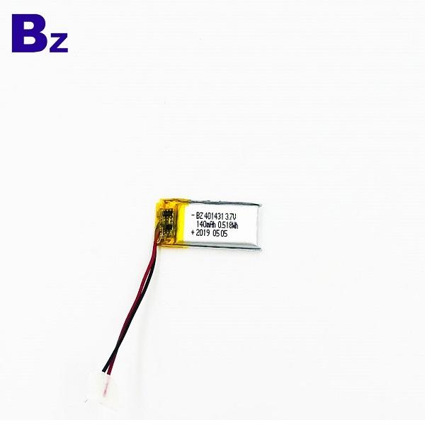 401431 140mAh 3.7V鋰聚合物電池
