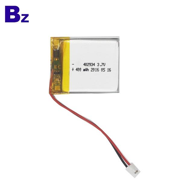 402934 400mAh 3.7V 鋰聚合物電池