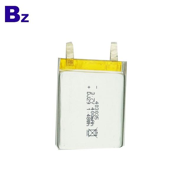 403035 400mah 3.7V 可充電鋰離子電池