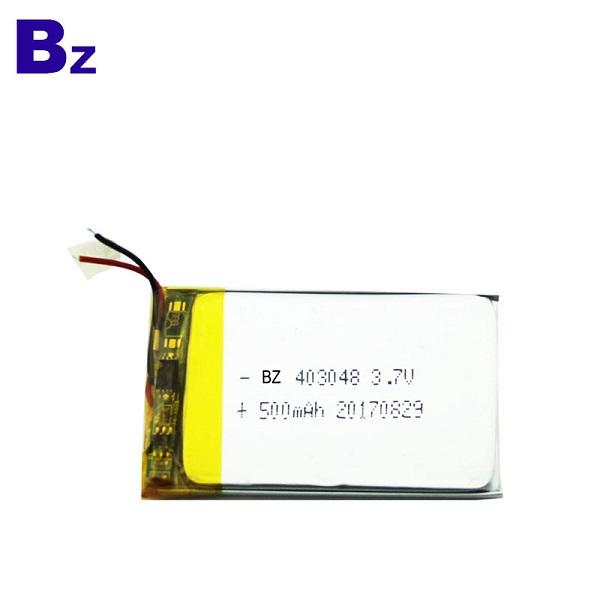 500mAh 3.7V鋰聚合物電池